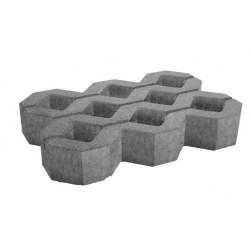 Paving concrete grid 60x40x10 cm gray