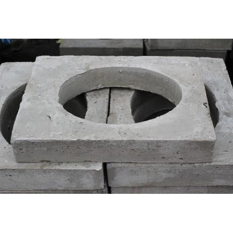 Płyta nośna 10 cm z otworemhydrantowa betonowa
