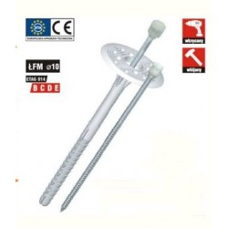 Dämmstoffdübel 10x220 mit Metallschaft