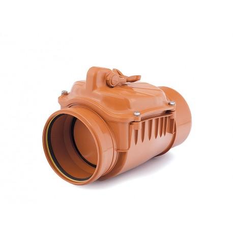 Zasuwa burzowa PVC-U kanalizacyjna 110, klapa nierdzewna