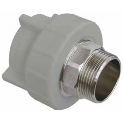 PP Male Coupling with key inlet