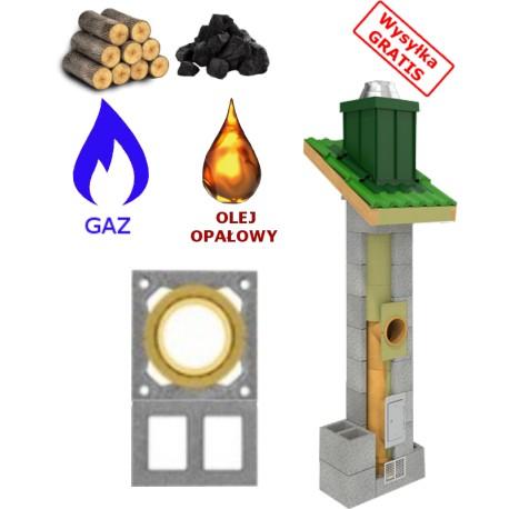 Komin uniwersalny ( gaz,drewno,węgiel..) + 2 WENT.
