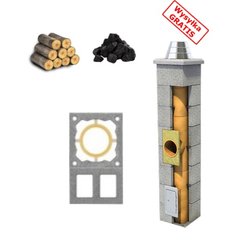 Komin standard (kominek,drewno,węgiel) + 2 Wentylacje