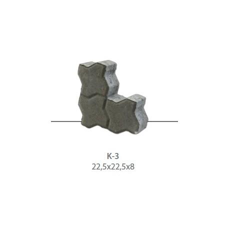 Kostka brukowa K-3 g. 8 cm