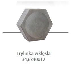 TRYLINKA Straßenplatte 12 cm, konkav
