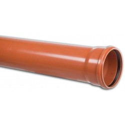 PVC Drainage Pipe 630x18,4x3 m solid