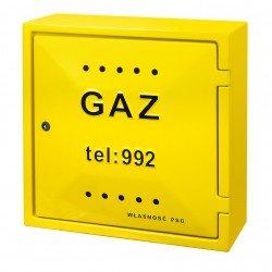 Szafka gaz 60x 60x25 żółta PSG standard