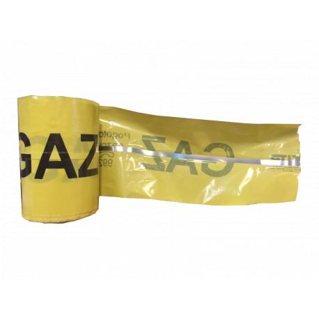 Taśma ostrzegawcza GAZ z wkładką metal. - szer. 20 cm