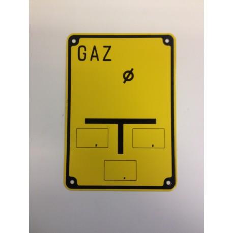 """Tablica ostrzegawcza """"GAZ"""""""