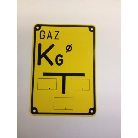 """ablica ostrzegawcza """"GAZ KG"""""""