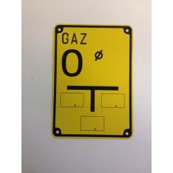 Tabliczka oznaczeniowa GAZ O (odwadniacz)