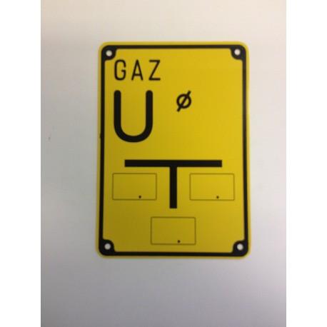 """Tablica ostrzegawcza """"GAZ U"""""""