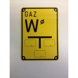 "Warning sign ""GAS W"""