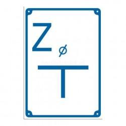 """Tablica ostrzegawacza woda """"Z"""""""