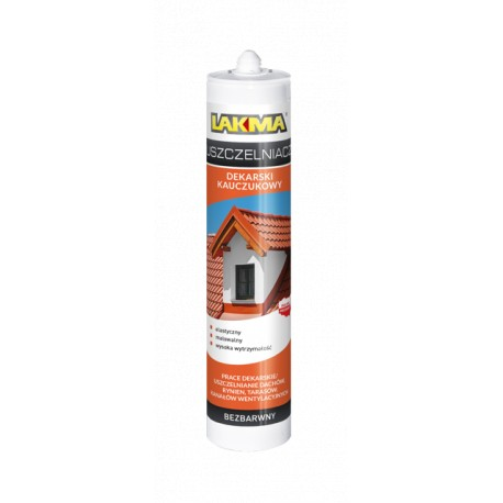Rubber roofing sealant 300 ml brown