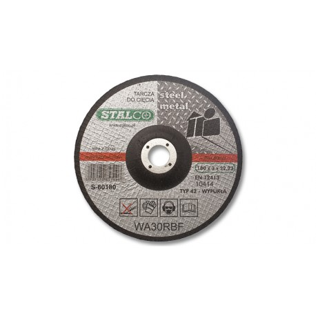 Convex cutting disc for metal Ø18 cm
