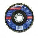 Listkowa tarcza szlifierska 115x22 mm, granulacja 120