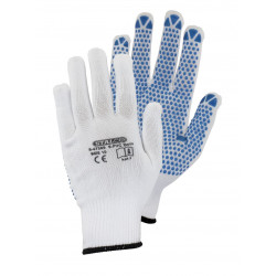 Polyester gloves S-PVC Dots