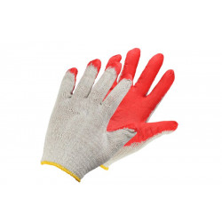 Latex-coated cotton gloves S-Wampir