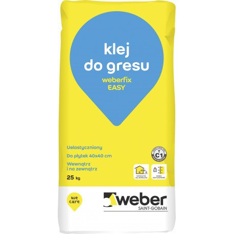 Klej do płytek Weber EASY FIX C1T, 25 kg