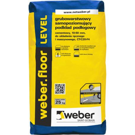 Wylewka samopoziomująca Weber.floor LEVEL - 25 kg