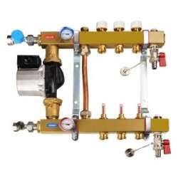 """Steel Central Heating Separator 1"""" (from 2 to 12 sections) with mixing module"""