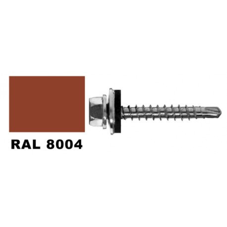 Wkręt farmer RAL 8004 samowier.do drewna 4.8x35 mm op. 20 szt.