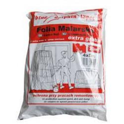 Folia malarska plandeka 4x5 m EXTRA GRUBA czerwone opakowanie