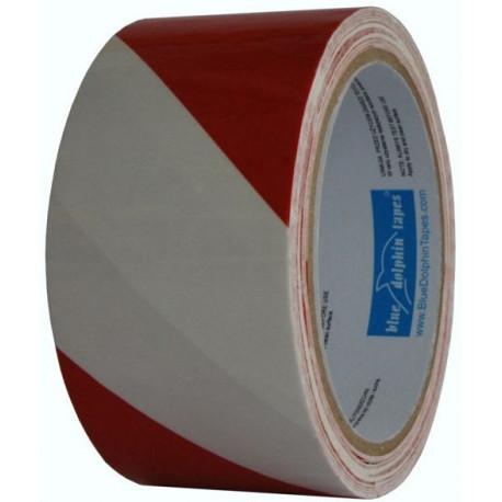Taśma ostrz 75 mm/100 m biało-czerwona