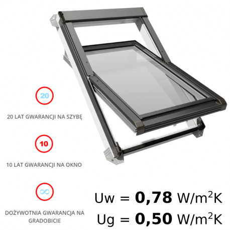Okno obrotowe PVC - OKPOL IGO I3