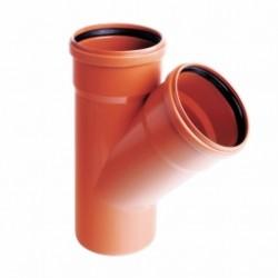 Trójnik PVC-U kanalizacyjny 110x110/45°