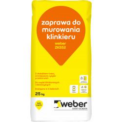 Zaprawa do murowania i fugowania Weber ZK552, 25 kg
