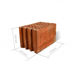 Pustak Ceramiczny Porocerm 25 cm