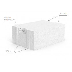 Porit Siporex aerated concrete block 11,5 cm