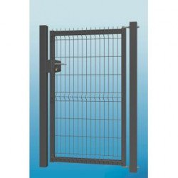 Wicket 3D 123x100 cm set with columns and hinges, L