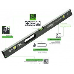 Spirit level 120 cm POWERMAX S-65789