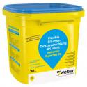 Weber SUPERFLEX 2K 30L 2-składnikowa hydroizolacja bitumiczna zużycie 3,6-4,8 l/m2