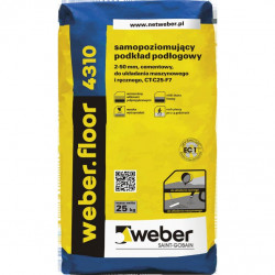 Self-leveling mortar WEBER.FLOOR 4310 25 kg