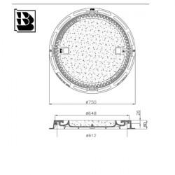 Schachtabdeckung AO 600 H33 Hydrotop Gel