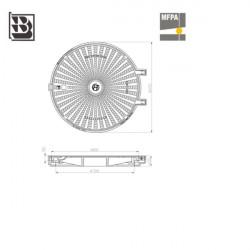 Manhole DO 800 gel H115