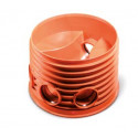 Inspection Chamber Base PVC 600/200, 3 inlets & 1 outlet