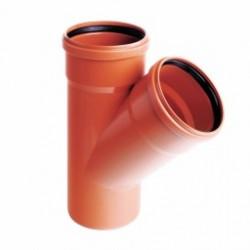 Trójnik PVC-U kanalizacyjny 200x160/45˚